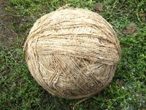 La boucle de la fibre de lin textile Photographie stock libre de droits