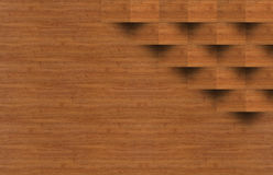l'image de la table en bois devant le résumé a brouillé le fond de photographie stock libre de droits