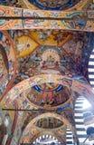 L'image des fresques du monastère de Rila en Bulgarie Images stock