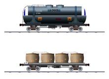 L'image du chariot de deux cargaisons Photographie stock