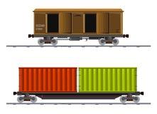 L'image du chariot de deux cargaisons photographie stock libre de droits