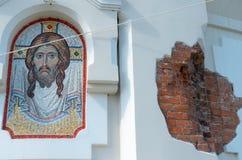 L'image du Christ sur le mur Images libres de droits