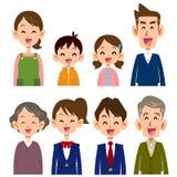 L'image du sourire de famille illustration stock
