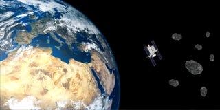 L'image extrêmement détaillée et réaliste de la haute résolution 3D de la terre orbitale de Station Spatiale Internationale d'ISS Photo stock