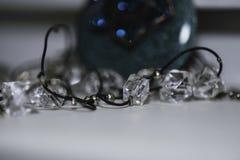 L'image ornemente des bijoux dans le macro Photographie stock