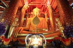 L'image principale de Bouddha, Wat Phanan Choeng images libres de droits