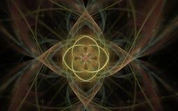 L'image produite par Digital faite en fractale colorée pour servir de contexte aux projets s'est rapportée à l'imagination, créat Image libre de droits