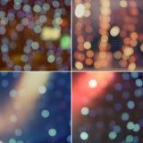L'image quatre de la lumière de vacances, éclat, miroite Images libres de droits