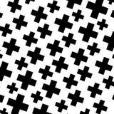 L'image tramée aiment l'élément des croix Image abstraite monochromatique Images libres de droits