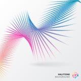 L'image tramée en spirale abstraite pointille la forme colorée Illustration de vecteur Photos libres de droits