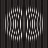 L'image tramée enflent l'illusion optique d'effet Conception géométrique abstraite de fond Configuration noire et blanche sans jo illustration stock
