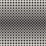 L'image tramée entoure le modèle sans couture de vecteur Texture géométrique abstraite avec la gradation de taille des anneaux Tr Photographie stock libre de droits