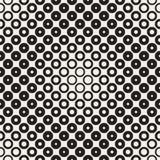 L'image tramée entoure le modèle sans couture de vecteur Texture géométrique abstraite avec la gradation de taille des anneaux Tr Photo libre de droits