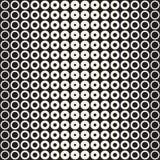 L'image tramée entoure le modèle sans couture de vecteur Texture géométrique abstraite avec la gradation de taille des anneaux Tr Image libre de droits