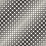 L'image tramée entoure le modèle sans couture de vecteur Texture géométrique abstraite avec la gradation de taille des anneaux Tr Photographie stock