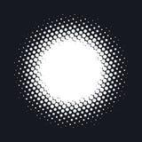 L'image tramée a pointillé le fond abstrait de vecteur, modèle de point dans la forme de cercle Images libres de droits