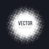 L'image tramée a pointillé le fond abstrait de vecteur, modèle de point dans la forme de cercle Photographie stock libre de droits