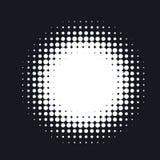 L'image tramée a pointillé le fond abstrait de vecteur, modèle de point dans la forme de cercle Photos libres de droits
