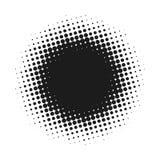 L'image tramée a pointillé le fond abstrait de vecteur, modèle de point dans la forme de cercle Contexte blanc d'isolement par ba Photos libres de droits