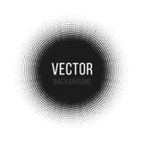 L'image tramée a pointillé le fond abstrait de vecteur, modèle de point dans la forme de cercle Contexte blanc d'isolement par ba Photographie stock