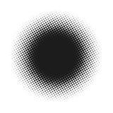 L'image tramée a pointillé le fond abstrait de vecteur, modèle de point dans la forme de cercle Contexte blanc d'isolement par ba illustration libre de droits