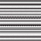 L'image tramée sans couture pointille des frontières d'effet Illustration de Vecteur