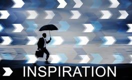 L'imagination d'aspiration d'inspiration inspirent le concept rêveur Photos libres de droits