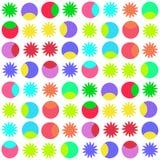 L'immagine è forme geometriche luminose su fondo bianco Fotografia Stock