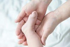 L'immagine è stata presa da neonato all'ostetricia ed alla ginecologia Fotografie Stock Libere da Diritti
