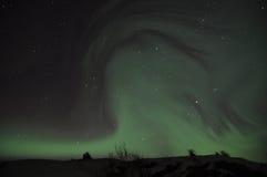 Aurora spettrale fotografia stock