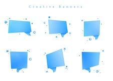 L'immagine è un archivio di vettore che rappresenta l'insieme dei nastri geometrici dell'insegna degli autoadesivi delle etichett fotografia stock