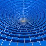 l'immagine 3d del cerchio blu 3d ha collegato la priorità bassa elettricamente Immagini Stock Libere da Diritti