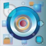L'immagine astratta con i cerchi royalty illustrazione gratis