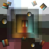 L'immagine astratta dei quadrati royalty illustrazione gratis