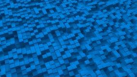 L'immagine astratta del blu cuba il fondo illustrazione vettoriale