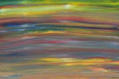 L'immagine astratta dell'acquerello dei bambini dipinge il fondo variopinto di arte Fotografie Stock Libere da Diritti