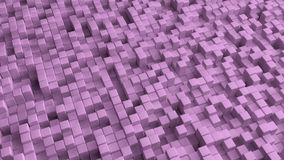 L'immagine astratta della porpora cuba il fondo illustrazione di stock