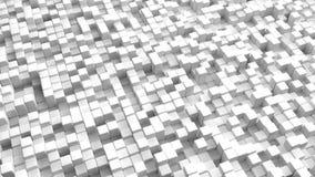 L'immagine astratta di bianco cuba il fondo illustrazione di stock