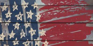 L'immagine composita dell'immagine digitalmente generata della stella modella con le bande blu e rosse illustrazione di stock
