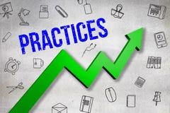 L'immagine composita dell'immagine digitalmente generata delle pratiche manda un sms a illustrazione di stock