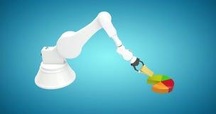L'immagine composita dell'immagine generata digitale della macchina che sistema il giocattolo blocca 3d Fotografia Stock