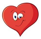 L'immagine del cuore allegro del fumetto sveglio Illustrazione con simpl Fotografia Stock Libera da Diritti