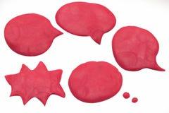L'immagine del playdough di chiacchierata del pallone su fondo bianco Fotografia Stock Libera da Diritti