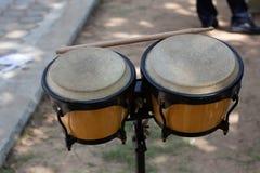 L'immagine del tamburo africano etnico immagine stock