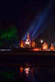 L'immagine di Buddha alla notte Fotografie Stock