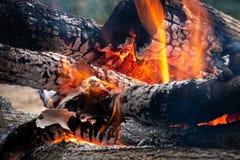 L'immagine di collega il fuoco bruciante Immagini Stock Libere da Diritti