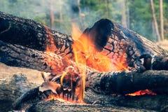L'immagine di collega il fuoco bruciante Fotografia Stock Libera da Diritti
