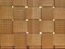 L'immagine di cotone marrone tessuta ha attraversato le righe tessuto senza cuciture Immagini Stock