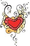L'immagine di cuore e dei reticoli. Fotografia Stock