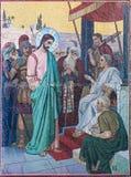 L'immagine di Jesus Christ sulla chiesa dell'affresco del salvatore sopra Immagine Stock Libera da Diritti